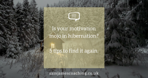 Is your motivation mojo in hibernation? 5 tips to find it again.