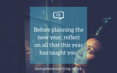Before planning the new year, reflect on all that this year has taught you.