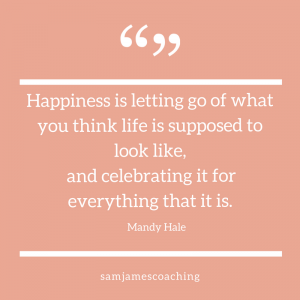 Happiness is letting go - Mandy Hale