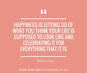Happiness is letting go (Mandy Hale)