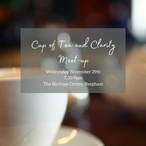 Cup of Tea and clarity Meet-up