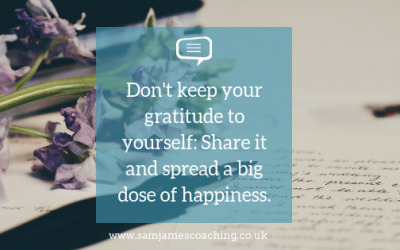 Don't keep gratitude to yourself: Share it and spread a big dose of happiness.
