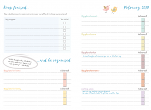 Stop the Flitter Monthly Planner 2019