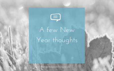 A few New Year thoughts