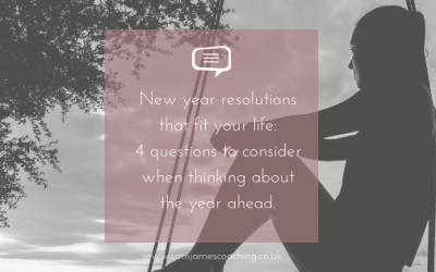 New year resolutions that fit your life: 4 Questions to consider when thinking about the year ahead.