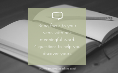 Bring focus to your year, with one meaningful word. 4 questions to help you discover yours.